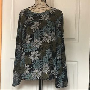 floral print small blouse from LOFT